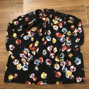 Bow Back Floral Top